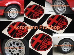 "4x 2.2"" 5.5cm 55mm Alfa Romeo Cap decal sticker center hub 147 156 spider GTA GT"