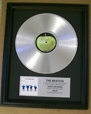Beatles HELP Platinum White Gold LP Record + Mini Album Not a Award + Plaque