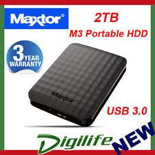 """Maxtor Seagate M3 2TB 2.5"""" Portable External Hard Drive USB 3.0 STSHX-M201TCBM"""
