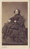 Mme Martineau Mongelot Da Pierre Petit Parigi Robe CDV Vintage Albumina Ca 1861