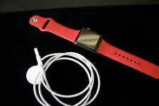 Apple Watch Series 3 GPS 38mm Gray Case Red Band Aluminum