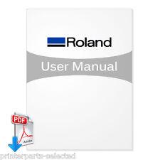 Roland CJ-540 Service Manual, SolJet ProII SC-540 - PDF