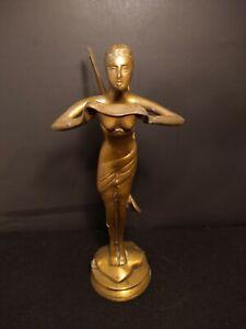 Victorian Bronze Fairy Statue 12 Inches