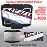 Adesivo valigia TOP CASE BMW R1250GS HP mod. rosa dei venti K50 dal 2013