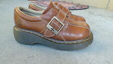 Woman's  Shoes Dr. Martens    Heavy, Brown Leather  Monk Strap  Buckle Sz 6