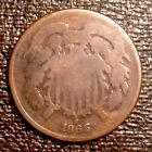 ~ 1865 US Two Cents - Civil War Era - free US shipping for sale