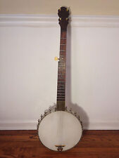 Antique George C Dobson 5 String Banjo 1880s with Vintage Soft Case