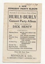 Reynolds & Co London Concert Party Hurly Burly Musical Theatre Postcard 831b