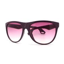 Womens Oversize Sunglasses Overlap Button Design Fashion Frame PURPLE