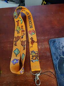 Scooby-doo orange lanyard