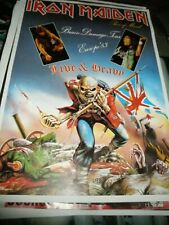 Promo Vintage Poster Concert Brain Damage Tour Live 80s Europe 1983 Iron Maiden