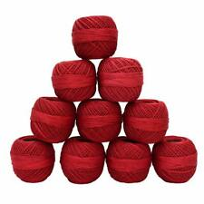 Crochet Cotton Thread Combo For Knitting And Embroidery Pack Of 10 Rolls