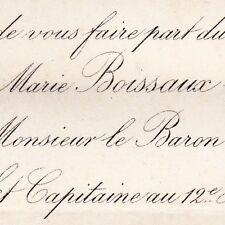 Marie Boissaux Paris 1876 Gentien Thomas De Bosmelet