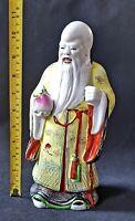Large Antique Chinese Shou Lao Star God Longevity Immortality Statue Feng Shui
