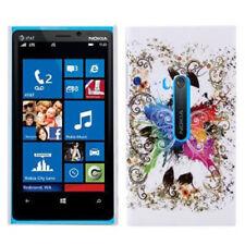 HardCase Schutzhülle für Nokia Lumia 920 Schmetterling weiß bunt Etui Hülle