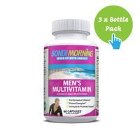 Multivitamin Supplement for Men, Essential Vitamins & Minerals - 60 Caps x 3