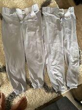 Mens Nike Dri-Fit Swing Man Gray Baseball Softball Pants M Medium - Lot Of Two