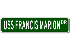 USS FRANCIS MARION Street Sign - Navy