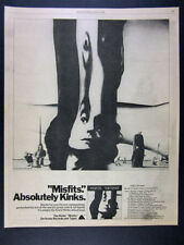 1978 The Kinks Misfits album promo tour dates vintage print Ad