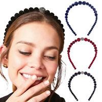 Ladies Velvet Pearl Hairband Headband Hair Band Hoop Accessories Party Headpiece