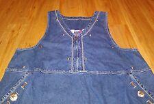 JL NY Western Cowgirl Plus Size 2X  Jean Dress scl-i