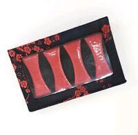 Gift Set of 4 Japanese Porcelain Chopstick Holder Table Rest New in Box, Red