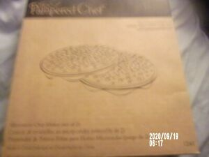 The Pampered Chef - Microwave Chip Maker (Set of 2) - 1241 - Preowned in box