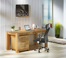 Oak Top PC Table Computer Desk Office Home Workstation French Rustic Furniture