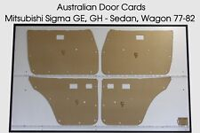 Mitsubishi Sigma 1st Gen GE, GH Sedan, Wagon 77-82  Door Cards Blank Trim Panels