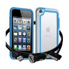 Housse Etui Coque Bumper bleu clair pour Apple iPod Touch 4G + chargeur auto