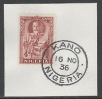 Nigeria 5533 - 1936 KG5 4d Pictoria on piece with MADAME JOSEPH FORGED CANCEL