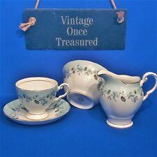 Tuscan Chinacraft Moonlight Tea Cup, Saucer, Milk Jug, Sugar - Vintage 1950s VGC
