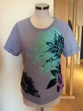 Gerry Weber Top Size 10 BNWT Grey Mint Pink Navy Floral RRP £55 Now £17