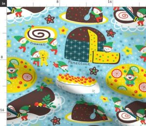 Red Christmas Holidays Festive Cakes Cookies Spoonflower Fabric by the Yard