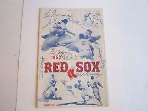 1950 BOSTON RED SOX VS CHICAGO OFFICIAL PROGRAM & SCORE CARD - OFC-2