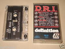 DRI D.R.I. - Definition - MC Cassette un/official polish tape MAG MAGIC press