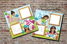 Fairy Cute Girl 2 PRINTED Premade Scrapbook Pages BLJgraves 18L