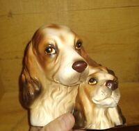 VINTAGE NAPCOWARE C8953 JAPAN COCKER SPANIEL DOG PLANTER