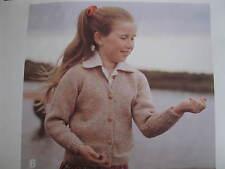child knitting pattern  cardigan 2 -12 years 8 ply