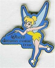 TINKER BELL WAND OUT WHERE DREAMS COME TRUE BLUE OUTLINE 2007 Disney PIN