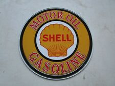 tin metal home garage repair shop man cave decor service station fuel shell clam