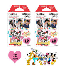 Fujifilm Instax Mini Disney Mickey 20 Photos Film For Fuji 8 9 25 70 Camera SP-1