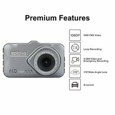 New listing Dash Cam - Epicka 1080P Full Hd Car Dvr Dashboard Camera, Driving Recorder with