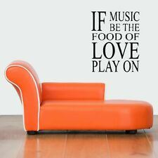 Wall Art Vinyl Sticker Decal Mural Decor Art Music Is Food For Love Quote #1083