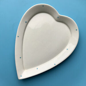 Vintage Royal Winton Grimwades Heart Lid / Plate Butter / Cheese Dish, Polka Dot