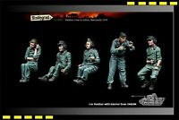 1:35 Panther crew in action, Normandy 1944 5 Figures Resin Model Kit for TAKOM