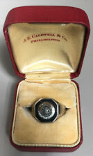 Vintage 10K Gold Pennsylvania Military College (PMC) Ring J.E. CALDWELL size 8
