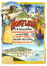Affiche chemin de fer Ouest - Honfleur