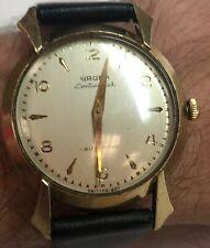 Vintage 1950s Gruen Continental Autowind Genuine Nappa Leather Band Wrist Watch