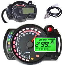 DC 12V Motorcycle Digital Speedometer Odometer Tachometer LED 7 Color Backlight